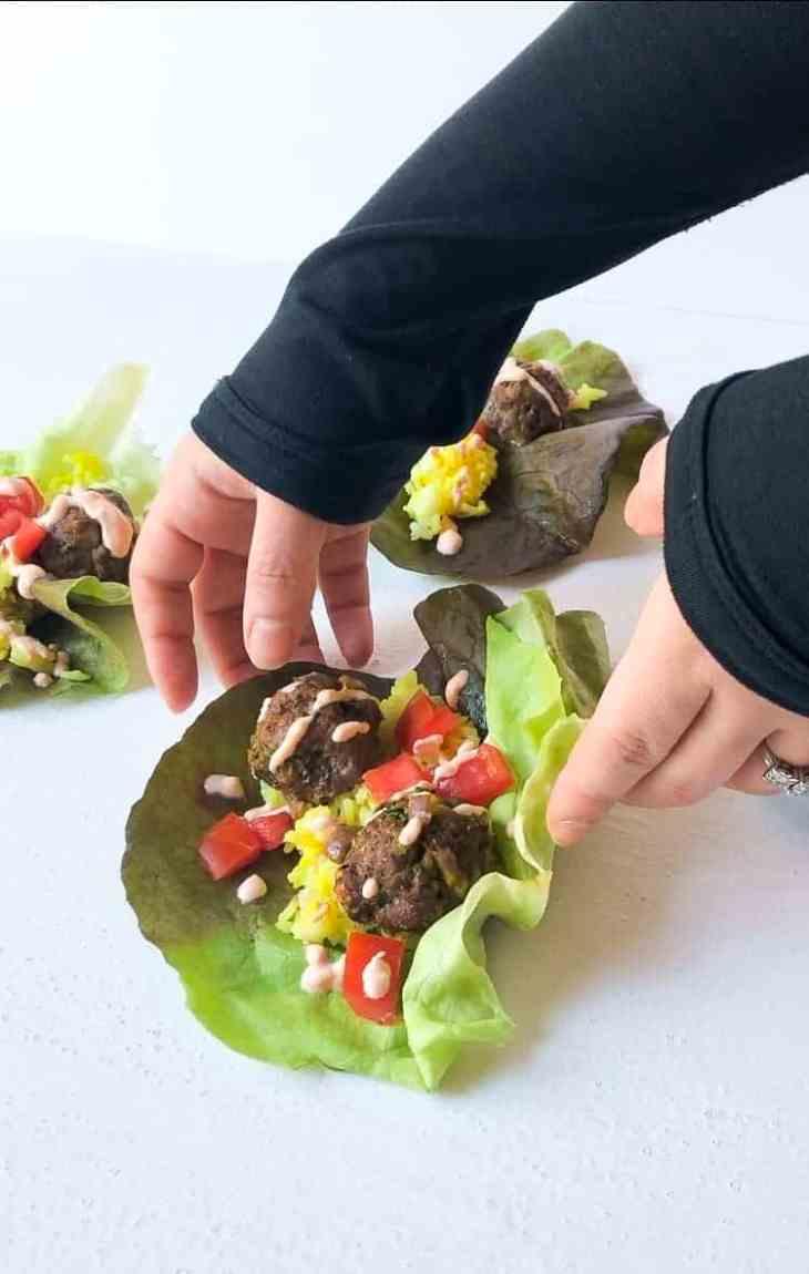 Moroccan Kefta Lettuce Wraps