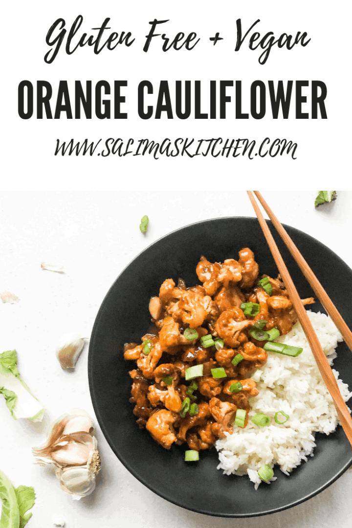 Vegan Gluten Free Orange Cauliflower