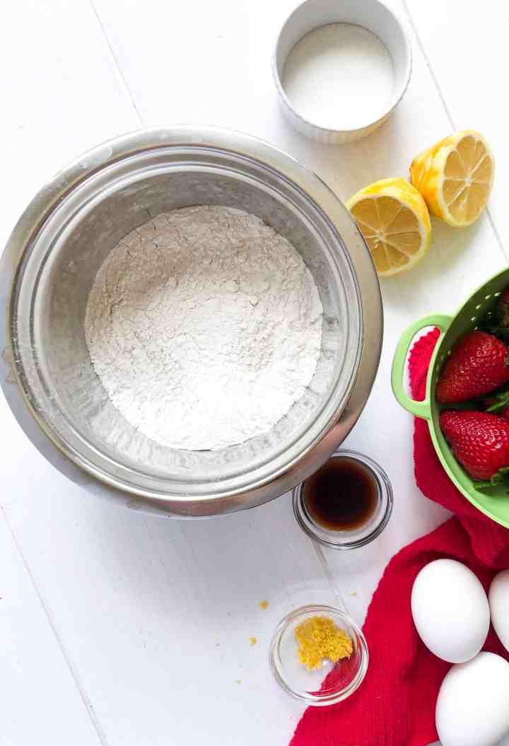 Gluten Free Lemon Vanilla Cake