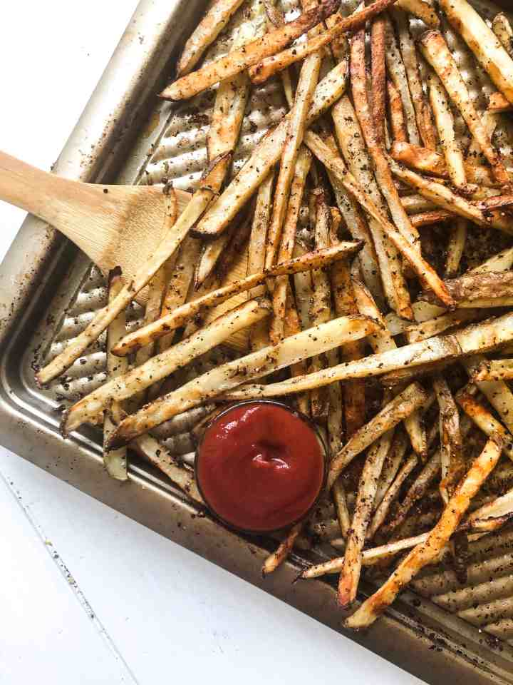 Lemon Pepper Oven Baked Fries