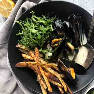 Creamy White Wine Mussels