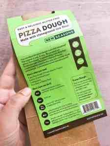 Gluten free pizza dough directions.