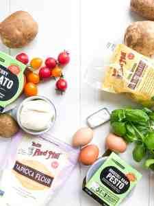 Gluten free gnocchi ingredients.