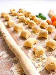Rolled gluten free gnocchi.
