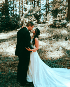 First look at our backyard wedding.