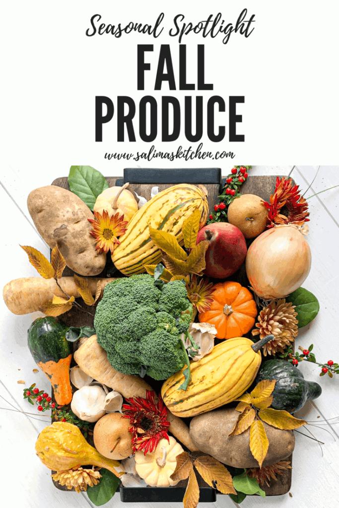 A platter of seasonal fall produce.