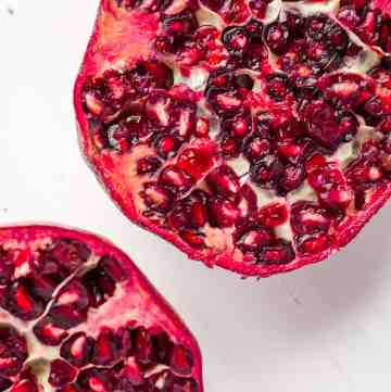 A pomegranate opened up.