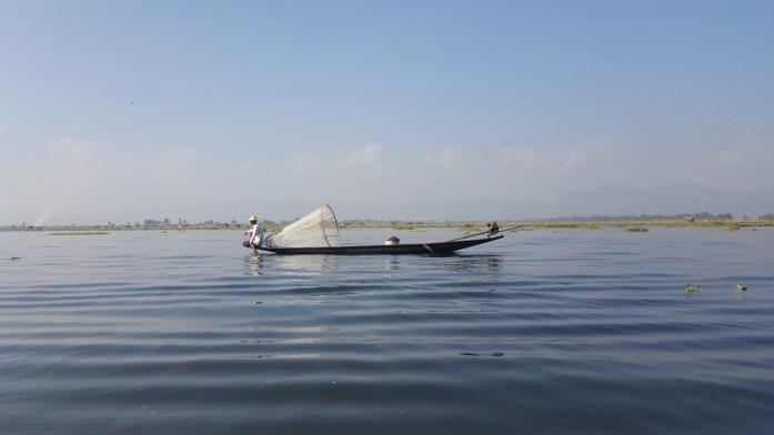 Pescador y su red