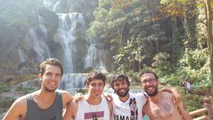 Los muchachos! Pedro, Esti, Santi y Matu