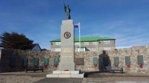 El monumento conmemorando la guerra
