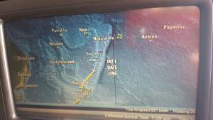 Volando a Niue, cruzando la línea de tiempo internacional