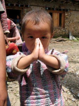 praying child Nepal - Thandiwe