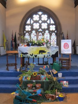 Blessing of gardens and gardeners service display