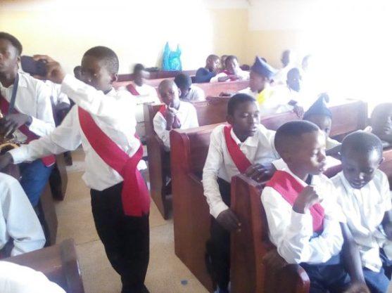 Boys Brigade, St John's Zambia, induction service