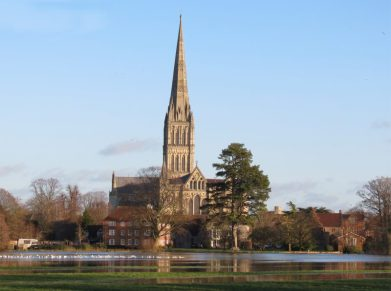 48 Salisbury Cathedral from the Water Meadows