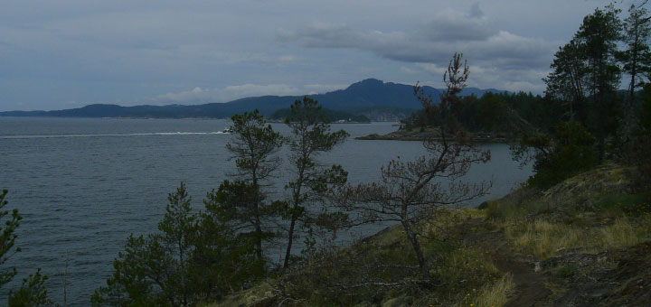 North to Pender Harbour entrance