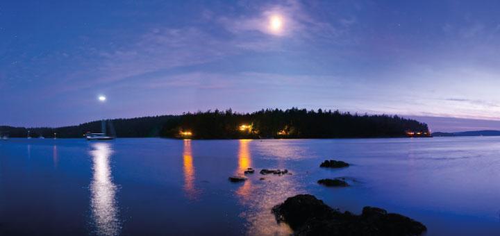 Night falls on Blind Bay