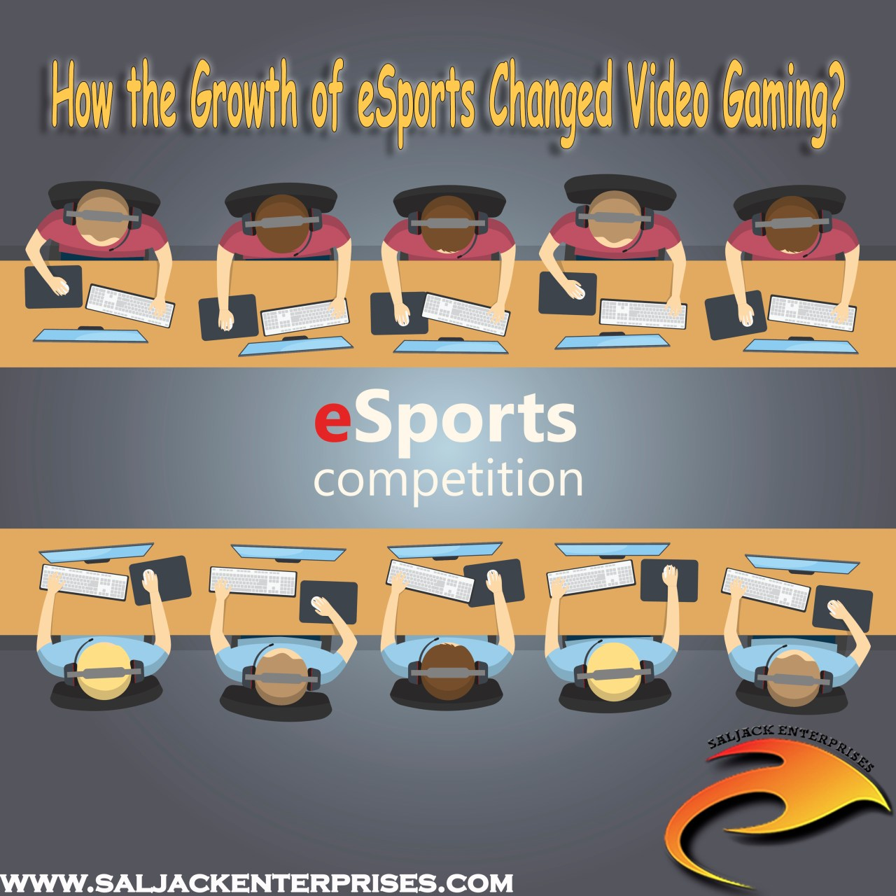 How the Growth of e-Sports Changed Video Gaming? Presented by Saljack Enterprises. Gaming. Media & Entertainment.