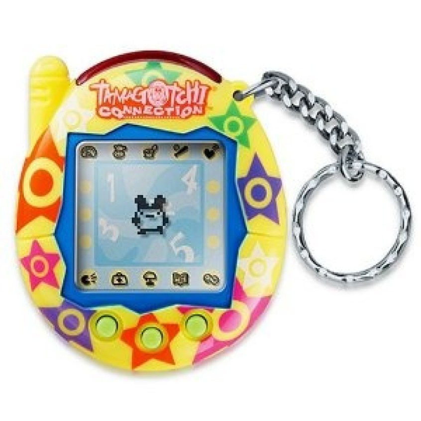 Tamagotchi image from Pintrest.com. Presented by Saljack Enterprises. Gaming. Animation. Media. Entertainment. Woman Owned.