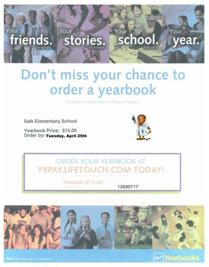 2016.2017 - yearbook order FLYER