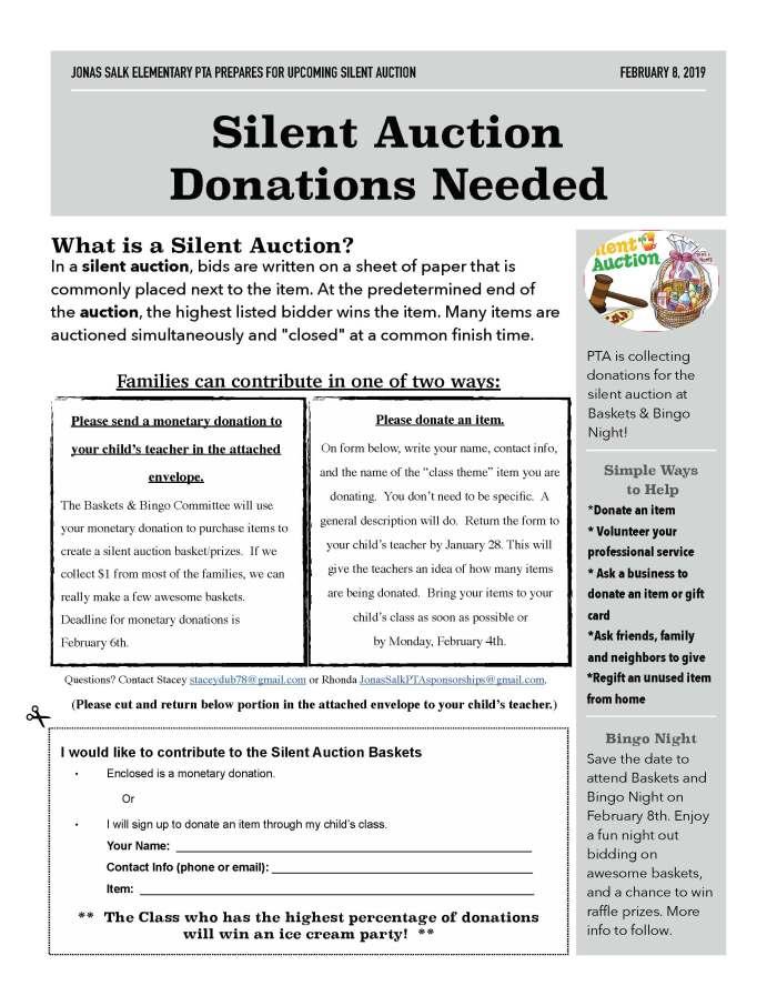 2019.02.08 - Silent Auction Donations Flyer
