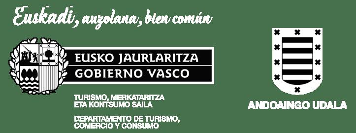 Logos del Gobierno Vasco y el ayuntamiento de Andoain