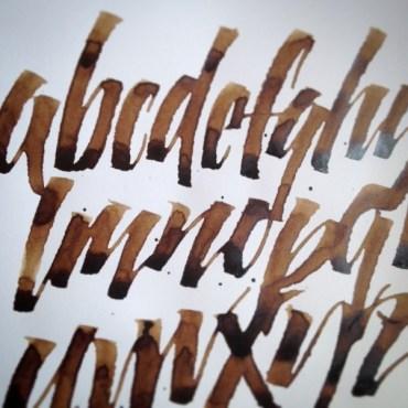 walnut ink w/ruling pen