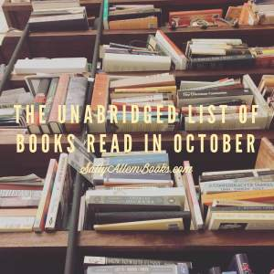 My October reading month in words, pictures, and GIF. (Tackling Mount TBR not included.)