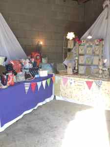 My stall and that of LuciLu Jewellery
