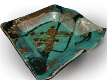 Square earthenware dish