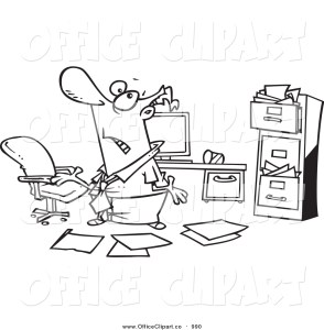 Clipart disorganized file system