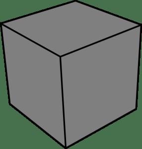 A grey cube
