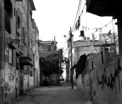 Narrow Road in Nusirat Refugee Camp, Gaza