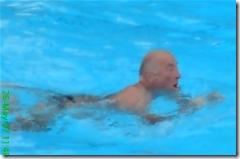 Geoff swimming