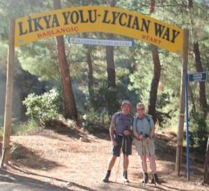 Geoff & Sally start of Lycian Way