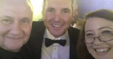 Kevin Carlin, Alan Fletcher and Sally McLean in a selfie from the Australian Directors' Guild Awards
