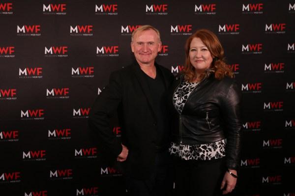 MWF Gala Awards Night Host, Dean Haglund with Sally McLean on MWF Opening Night