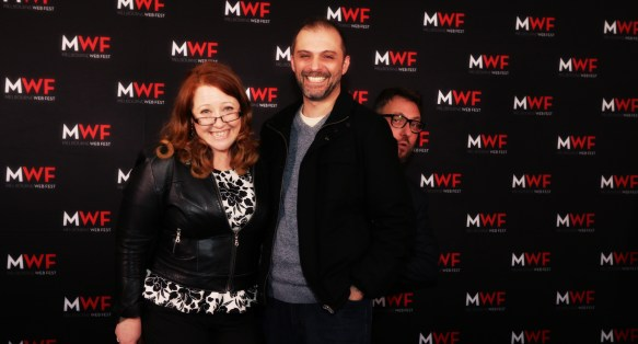 Sally McLean, Enzo Tedeschi and Steinar Ellingsen at MWF Opening Night