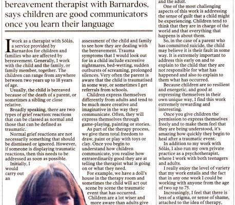 Irish Times: My Working Life