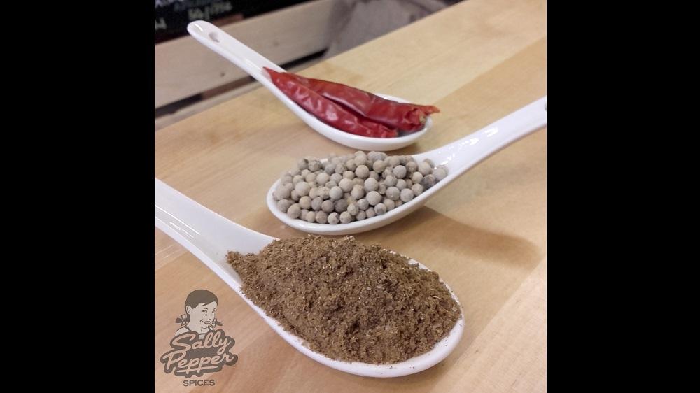 Sally Pepper especias para costillas picantes:cinco especias chinas,pimienta blanca y guindillas-China