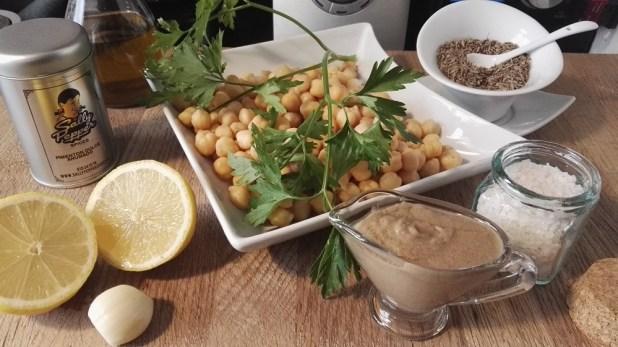 Ingredientes para hacer hummus