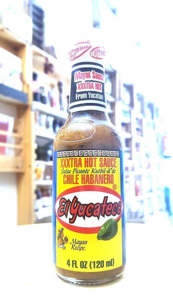 Sally Pepper-Spices-Tienda-Especias-salsas picantes-chiles-Madrid-El Yucateco-habanero-kutbil ik-extra picantes-Yucatán-México-562 x 1000