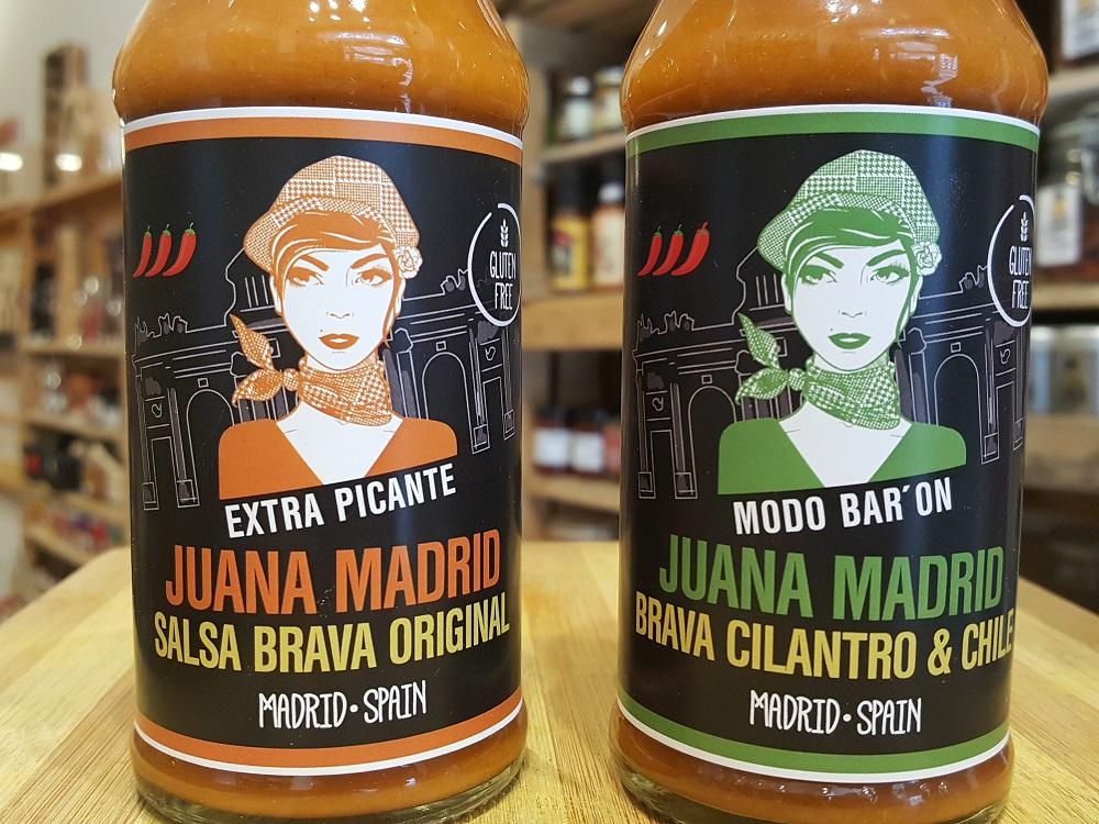 Sally Pepper-Spices-Tienda-Especias-salsas picantes-chiles-Madrid-Juana Madrid-salsa brava original-cilantro y chile-1000 x 700