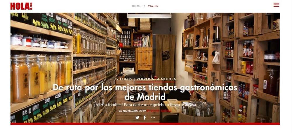 Sally Pepper Spices la tienda de especias, chiles y salsas picantes en la ruta de las mejores tiendas gastronómicas de Madrid sgún la revista Hola.com