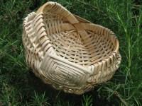 small frame cane basket