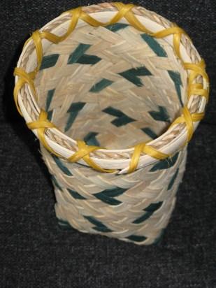 plaited reed/cane basket