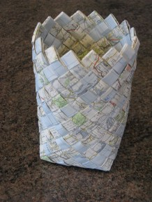 diagonal weave map basket
