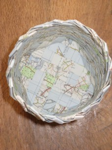 base view of plaited map basket