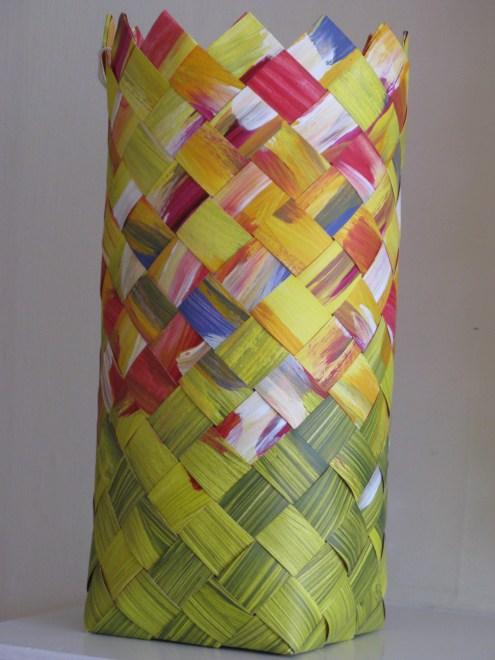 bias weave painted paper