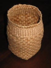 plaited willow bark basket
